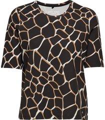 t-shirt 3/4-sleeve r t-shirts & tops short-sleeved multi/mönstrad gerry weber edition