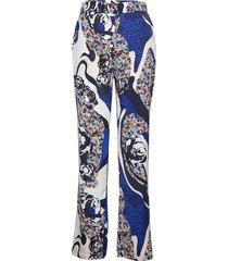 rio pantalon met rechte pijpen blauw six ames