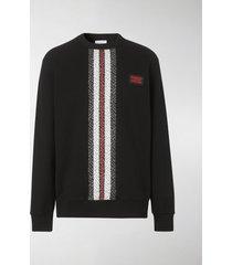 burberry monogram stripe-print sweatshirt