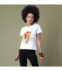 t-shirt estampa carmem miranda p incolor - kanui