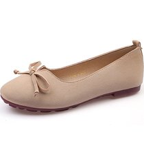 bowknot v shape slip on casual flat loafers