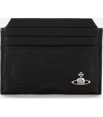 vivienne westwood men's belfast slim card holder - black