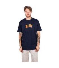 camiseta básica blunt fire - marinho camiseta básica blunt fire - m