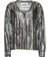 blouse met lurex hathi  metallic