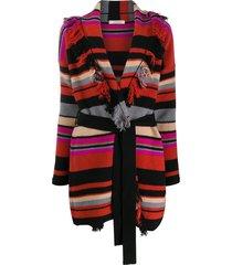 dorothee schumacher striped wrap cardi-coat - red