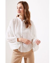 loft petite striped drop shoulder button down shirt