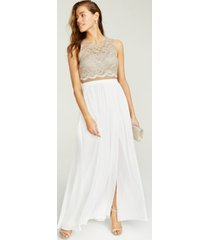 city studios juniors' lace top & long wrap skirt