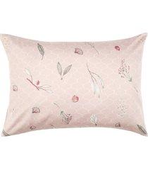 fronha altenburg cetim 300 fios 50cm x 70cm floral rosa - tricae