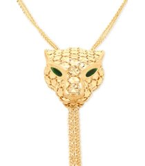 "effy oro by effy panther head tassel 20"" pendant necklace in 14k gold"