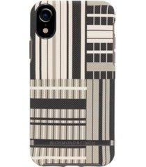 richmond & finch platinum stripes case for iphone xr
