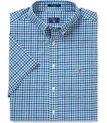 gant 3-color short sleeve overhemd blauw
