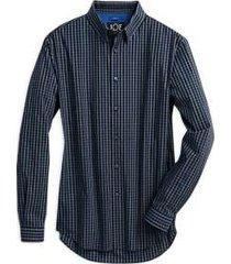 joe joseph abboud repreve® blue gingham slim fit sport shirt