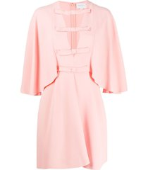 giambattista valli batwing sleeve bow dress - pink
