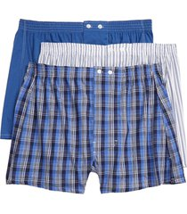 men's big & tall nordstrom 3-pack classic fit boxers, size 46 - blue