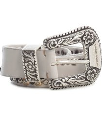 golden goose belt lace washed leather studs