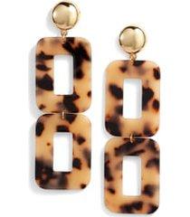 women's ettika rectangle statement earrings