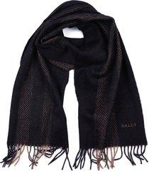 sciarpa uomo in lana multi dark grey jacquard