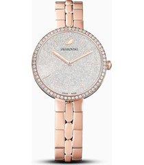 orologio cosmopolitan, bracciale di metallo, bianco, pvd oro rosa