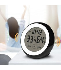 reloj digital/despertador/ alarma pantalla táctil-