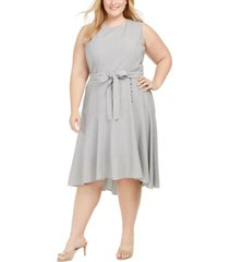 calvin klein plus size high-low dress