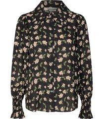 blouse met bloemenprint kelsie  zwart