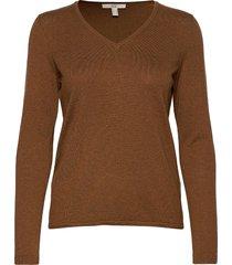 sweaters stickad tröja brun edc by esprit