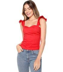 blusa con boleros roja mítica