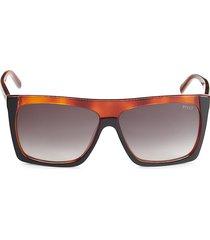 emilio pucci women's 61mm oversized square sunglasses - black