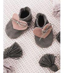 buciki gray with heart pink