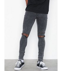 cheap monday him spray slash black jeans black