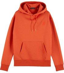 hoodie felpa rood