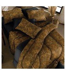 jogo de cama malha solteiro 2 peças 100% alg. 120g/m² fio penteado - appel home - congo