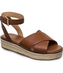 abbott sandal sandaletter expadrilles låga brun michael kors shoes
