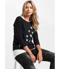 2-in-1 t-shirt met top