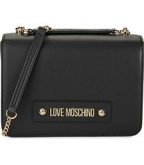 love moschino women's chain crossbody bag - brown
