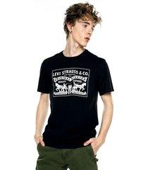 camiseta negra-blanca levis