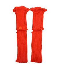 polaina ayron fitness max lã com botão laranja