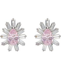 'starburst' cubic zirconia stud earrings