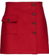 wool school skort, 6 kort kjol röd hilfiger collection
