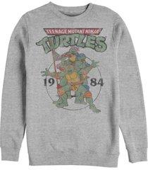 fifth sun men's teenage mutant ninja turtles group elite crew fleece pullover t-shirt