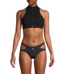 stella mccartney women's racerback swim top - black - size xs