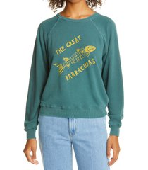 women's the great. the shrunken barracuda graphic sweatshirt