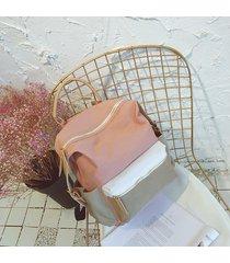 mochila de mujer/ mochila escolar grande lienzo sac a dos bolsas-rosa