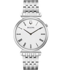 bulova men's regatta stainless steel bracelet watch 38mm