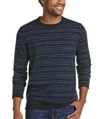 joe joseph abboud navy space dye stripe slim fit sweater