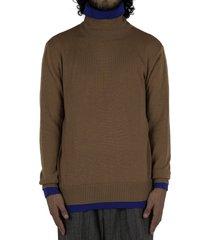 turtleneck double sweater - camel/royal