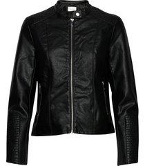 viblue new coated jacket/su-noos läderjacka skinnjacka svart vila