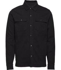 twill shirt jacket överskjorta svart banana republic
