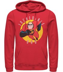 disney pixar men's incredibles super dad, pullover hoodie