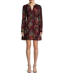 brooke ruffled floral dress